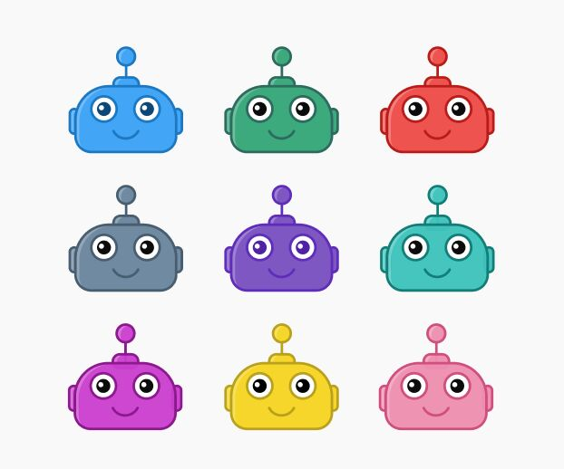 Adorable Bot Avatar Figma