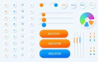 Tiny Neumorphism UI Kit For Figma