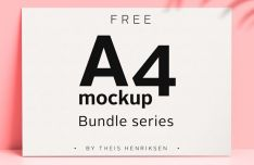 Modern A4 Paper PSD Mockups