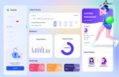 Biography Tennis Dashboard UI Design For Figma