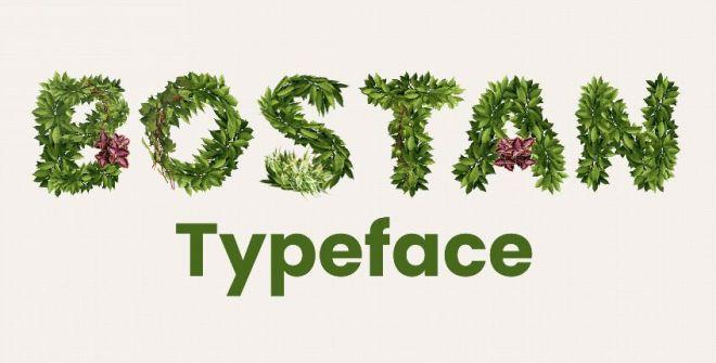 Bostan Plants Typeface PSD