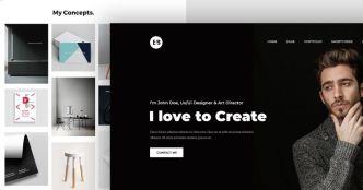 Portfolio Web Template PSD