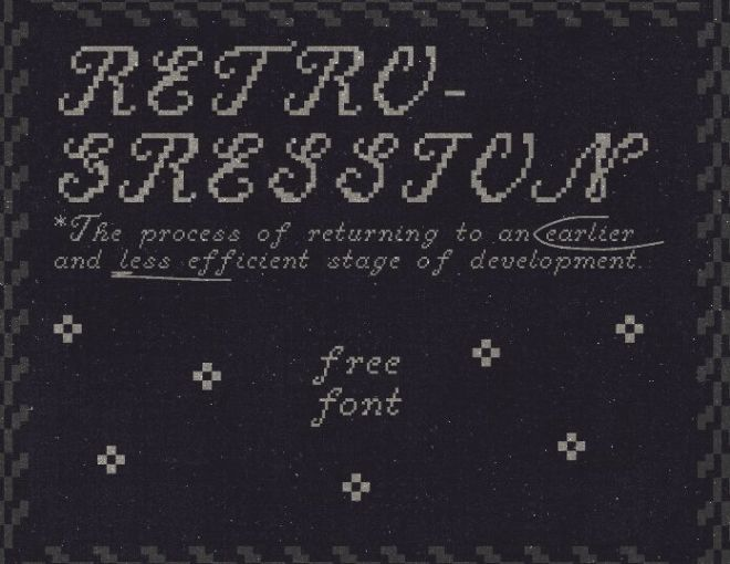Retrogression Font