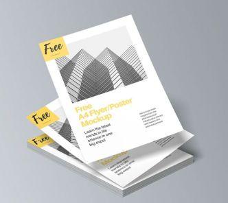 A4 Size Flyer & Poster PSD Mockups