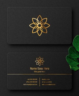 Dark Luxury Business Card Mockup PSD Mockup