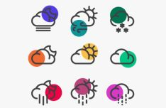 35 Weather Icons Vector