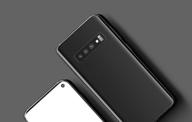 Smartphone (Standing & Top View) PSD Mockups-min