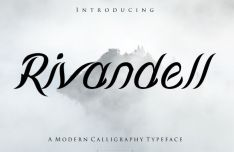 Rivandell Calligraphy Font