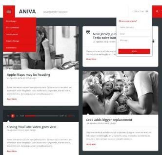 Aniva News Magazine Blog Templates PSD