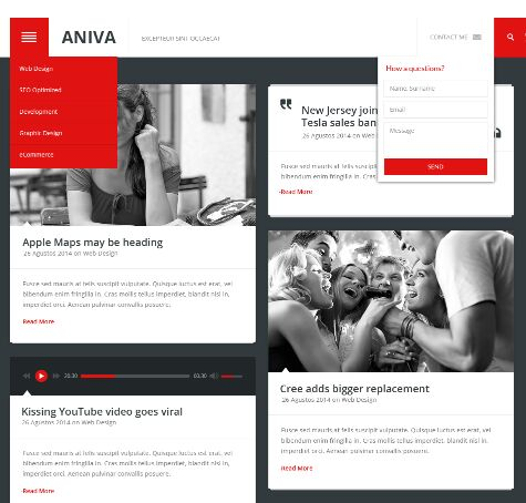 Aniva News Magazine Blog Templates PSD