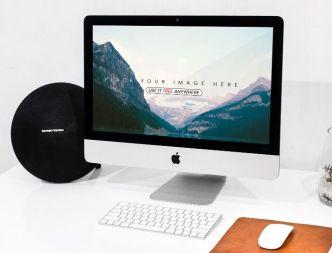 iPhone, iMac & MacBook PSD Mockups