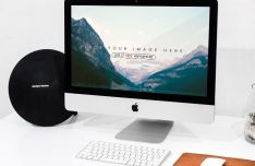 iPhone, iMac & MacBook PSD Mockups