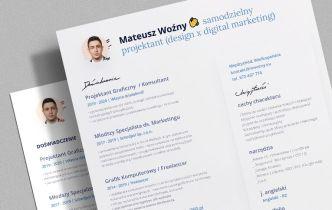 Outstanding CV Resume PSD Template