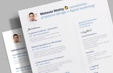 Outstanding CV Resume PSD Template