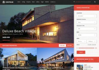 Centrum Real Estate Web Template PSD