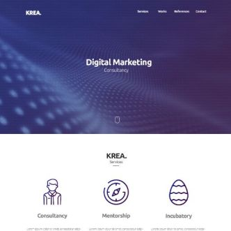 KREAN Business One Page Template