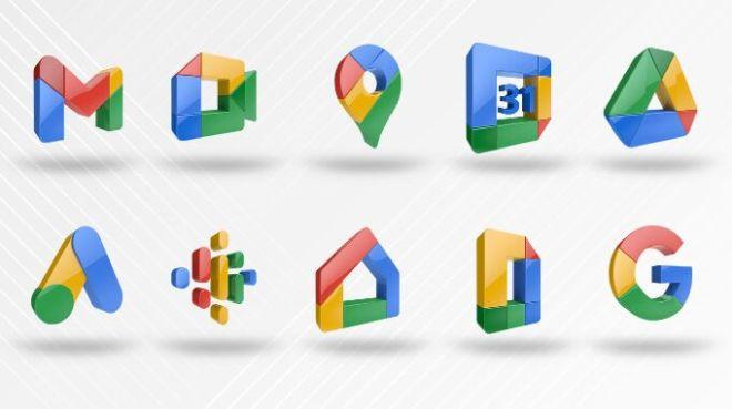 3D Google App Icons