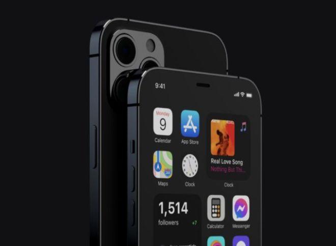 Realistic Dark iPhone 12 Pro PSD Mockup