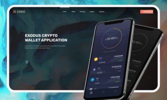 Crypto Wallet Landing Page Template Figma