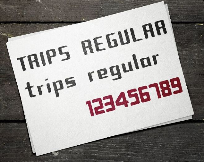 Trips Modular Font