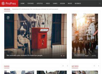 News & Magazine Blog Templates PSD