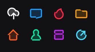 8 Minimal Vector UI Icons