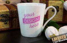 Mug PSD Mockup With Smart Objects