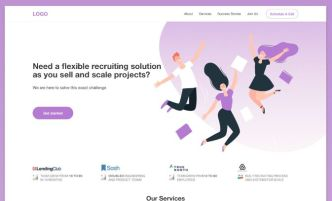 Recruitment Agency Landing Page Template Sketch