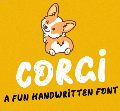 CORGI Handwritten Playful Font