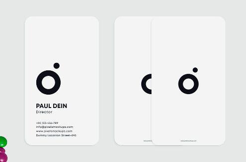 Minimal Editable Business Card Template PSD