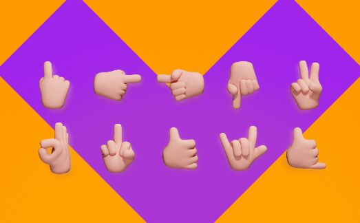 10 3D Hand (Gesture) Icons