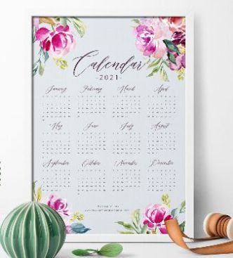 Printable 2021 Calendar PDF