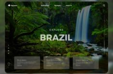 Travel Website Template Figma