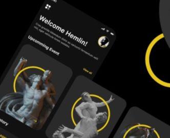 Museum Mobile App UI Kit For Adobe XD