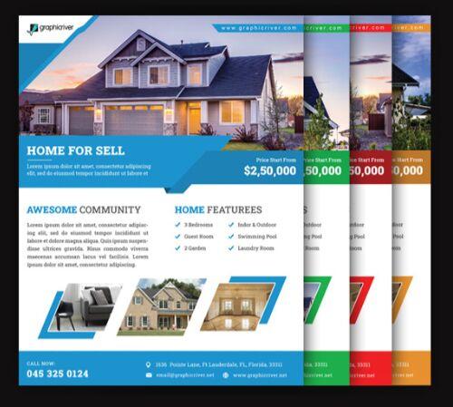 Real Estate Business PSD Flyer Mockup