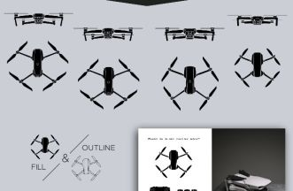 Drone Icons Set (PNG & SVG)