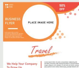 Travel Business Flyer Vector Template