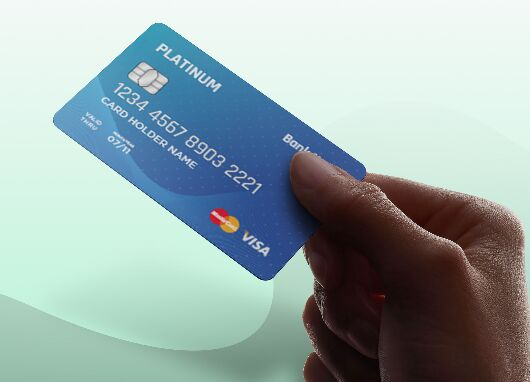 Realistic ATM Credit Card Template Vector
