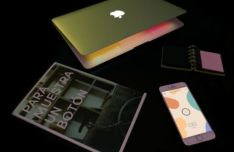 iPhone & Sketch Book PSD Mockups
