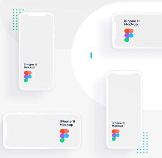 Minimalist iPhone 11 Clay Mockup (AI & Figma)