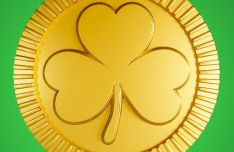 Saint Patrick Shamrock Gold Coin PSD