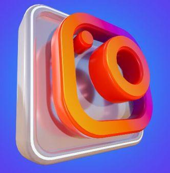3D Instagram Icon PSD