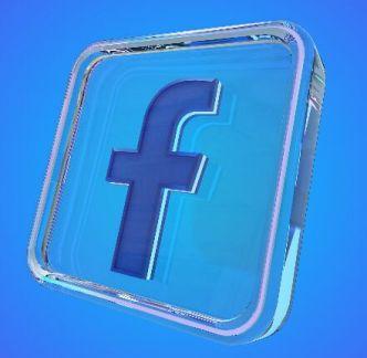 3D Glass Facebook Icon PSD