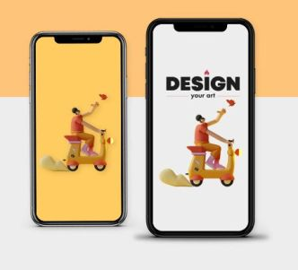 Outstanding iPhone X Mockup PSD