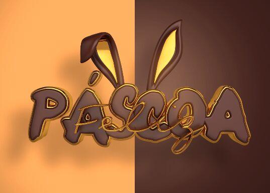 3D Easter Sticker