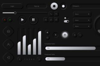 Cool Neumorphism UI Kit Adobe XD