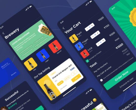 Brewery Mobile App Design Figma