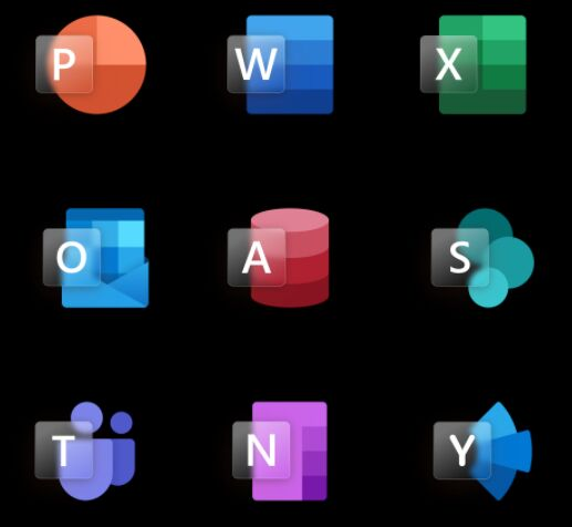 18 Glassy Office Icons