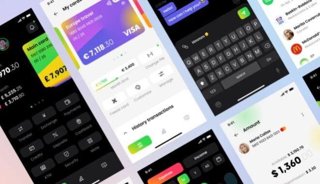 Clean Banking App UI Concept Figma