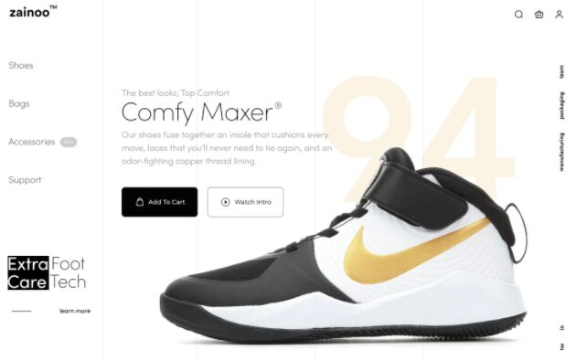 Shoe Website Product Page Template Figma